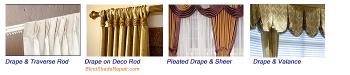 New DRAPERY Curtain TRAVERSE ROD ~ Pleated CELLULAR SHADE CORD Loop GUIDE